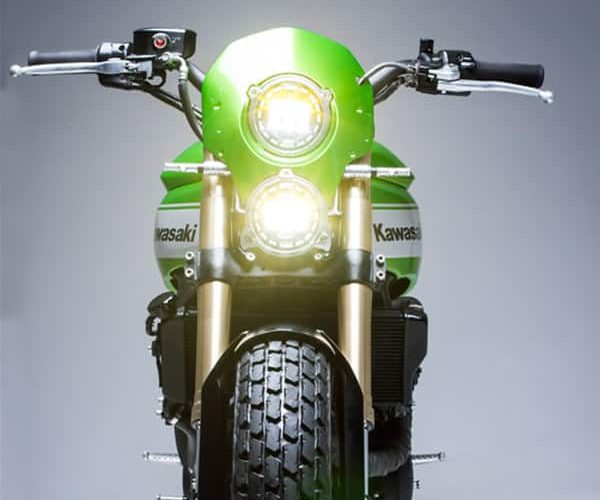 Kawasaki The Twister par Smoked Garage : Cadre supérieur